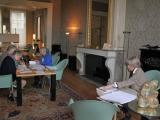 Direct aansluitend aan het afsluitende examen van de 21e cursus Dordtologie (2018-II) kijkt de cursusleiding de examens na. De cursusleiding bestaat uit Marijke Brand,  Irene Dewald, Elisabeth van Heiningen en  Fietje Hoyer.